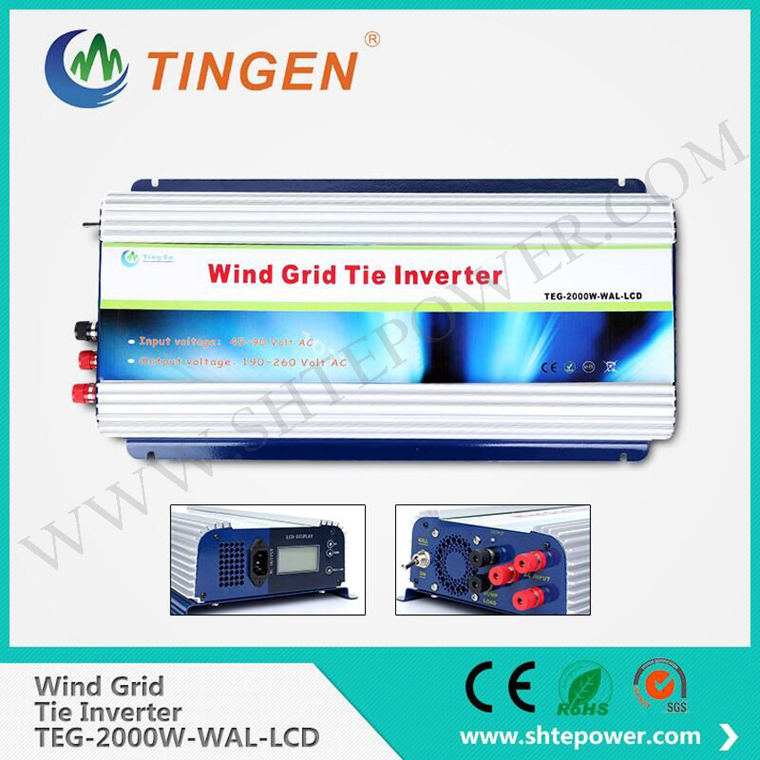 2000W Grid Tie Inverter with Dump Load for 3 Phase AC Wind Turbine Grid Tie Inverter 45-90V Input LCD Pure Sine Wave NEW !(China (Mainland))