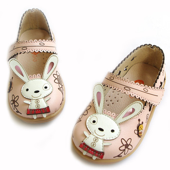 Free shipping design child the foot wear,girl spring and summer pink rabbit sandals leather shoes,girls white shoes size 27