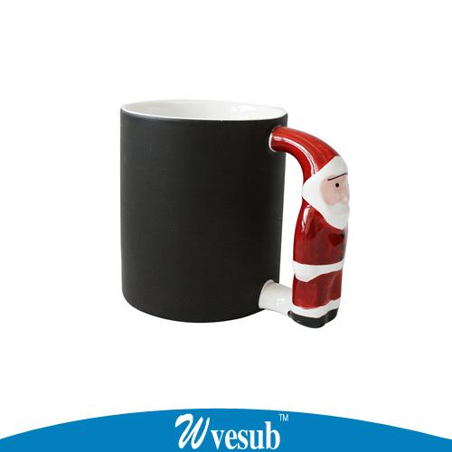 36pc Magic Photo Cup Chaning Color Mug Santa Claus Handle Mug Cute Cartoon Ceramic Cup For Print Christmas Gift Cup(China (Mainland))