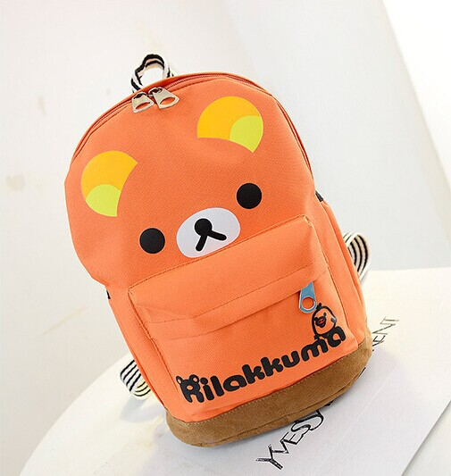 stylish compact backpack baby nursery children's school bags Charm orange - eight store