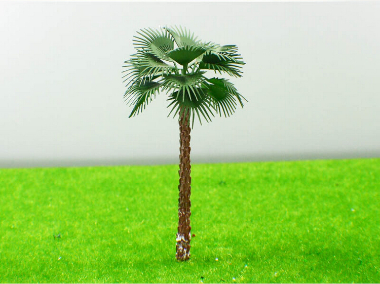 1/300 5cm Big copper leaves scale model palm trees with copper leaves Cocos model palm trees for scenery train layout(China (Mainland))