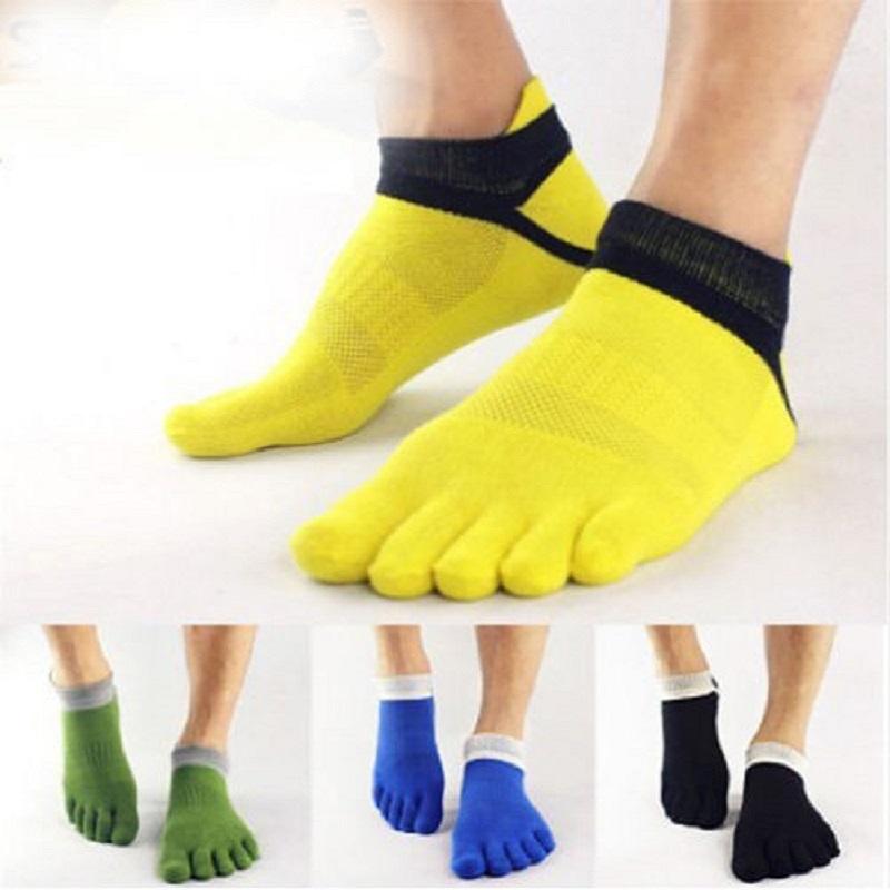 1 pair Fashion Spring Summer Mens Socks Cotton Sports Five Finger Socks Casual Toe Socks Breathable Ankle Socks 39-43(China (Mainland))