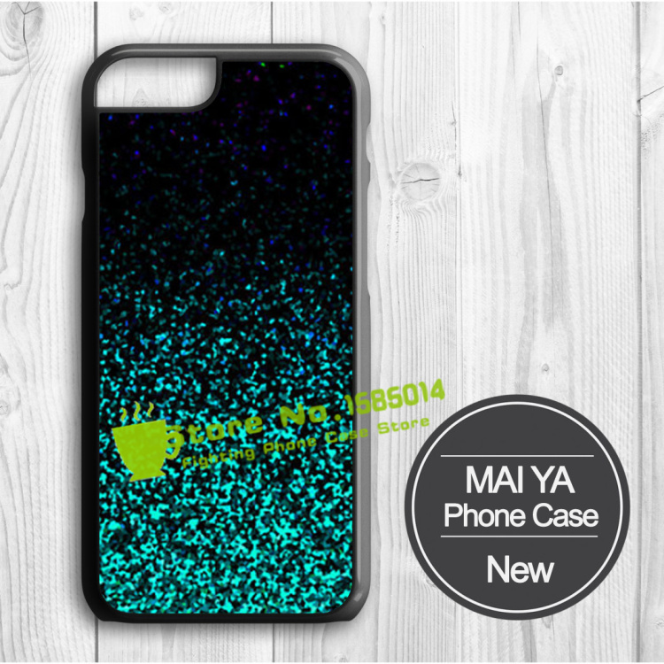 Mint Sparkle Glitter Picture Printed case for iPhone 6 6 Plus 5 5s 5c 4 4s cell phone case with one gift(China (Mainland))