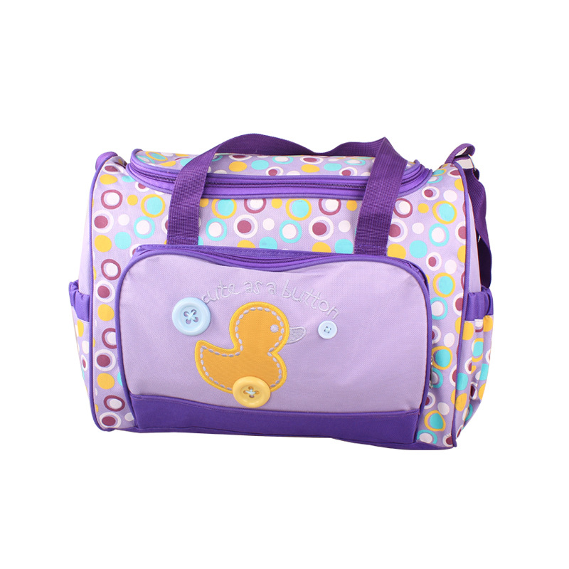 waterproof zipper skinly diaper bag purple multifunctional baby diaper bag fa. Black Bedroom Furniture Sets. Home Design Ideas