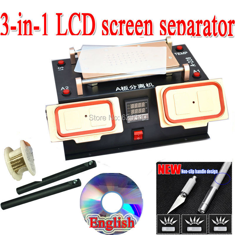 3-in-1 Vacuum LCD Screen Separator + Middle Bezel Frame Separate Machine for Samsung galaxy , built-in vacuum pump Free shipping<br><br>Aliexpress