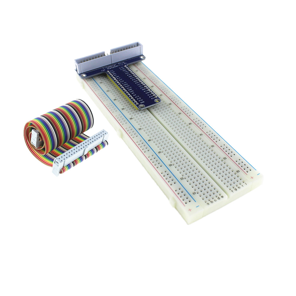 Raspberry Pi 3&Raspberry Pi 2 Model B GPIO adapter plate gold plug-in version+MB-102 830 points Breadboard +GPIO cable kit(China (Mainland))