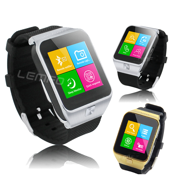 """Luxury Smart Watch Phone S28 1.54"""" Touch Screen Support SIM Phones Sync FM TF Anti Lost Smartwatch for Huawei HTC Android Phone(China (Mainland))"""