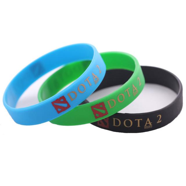 Js горячие игры Dota 2 силиконовый браслет шарм письмо Dota2 браслеты дешевые Braclet ...