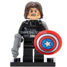 Captain America 3 Civil War Minifigures Winter Soldier Single Sale Building Blocks Marvel Super Heroes Set Models Figures Toys
