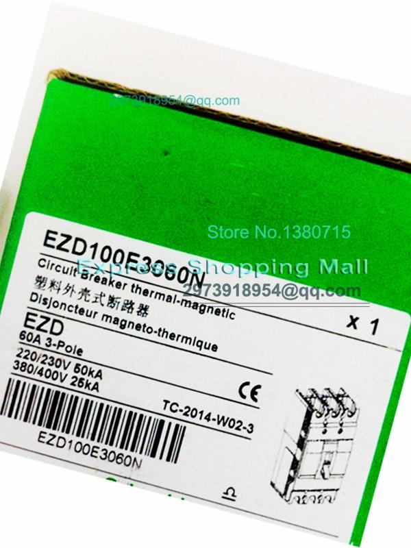 Фотография New EZD100E 3P 60A EZD100E3060N Plastic Breaker