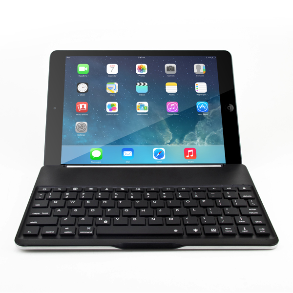 Ultra-thin Slot Wirless Bluetooth Keyboard Without Back Light for Ipad Air(Black)(China (Mainland))