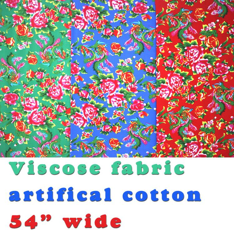 "Viscose fabric, cotton fabric, silk artificial cotton fabric, skirt fabric. 54"" wide, Sold by the yard, Free Shipping !(China (Mainland))"