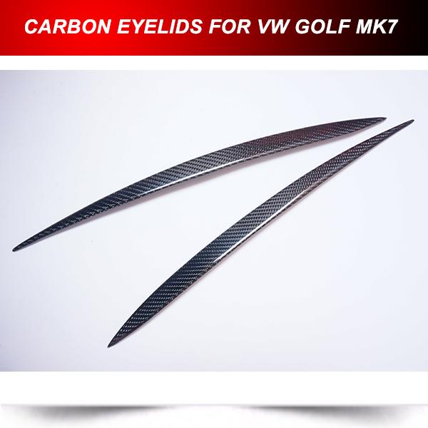 Здесь можно купить  Real Carbon Fiber eyebrows eyelids for Volkswagen VW Golf7 MK7 2013-2014  Автомобили и Мотоциклы