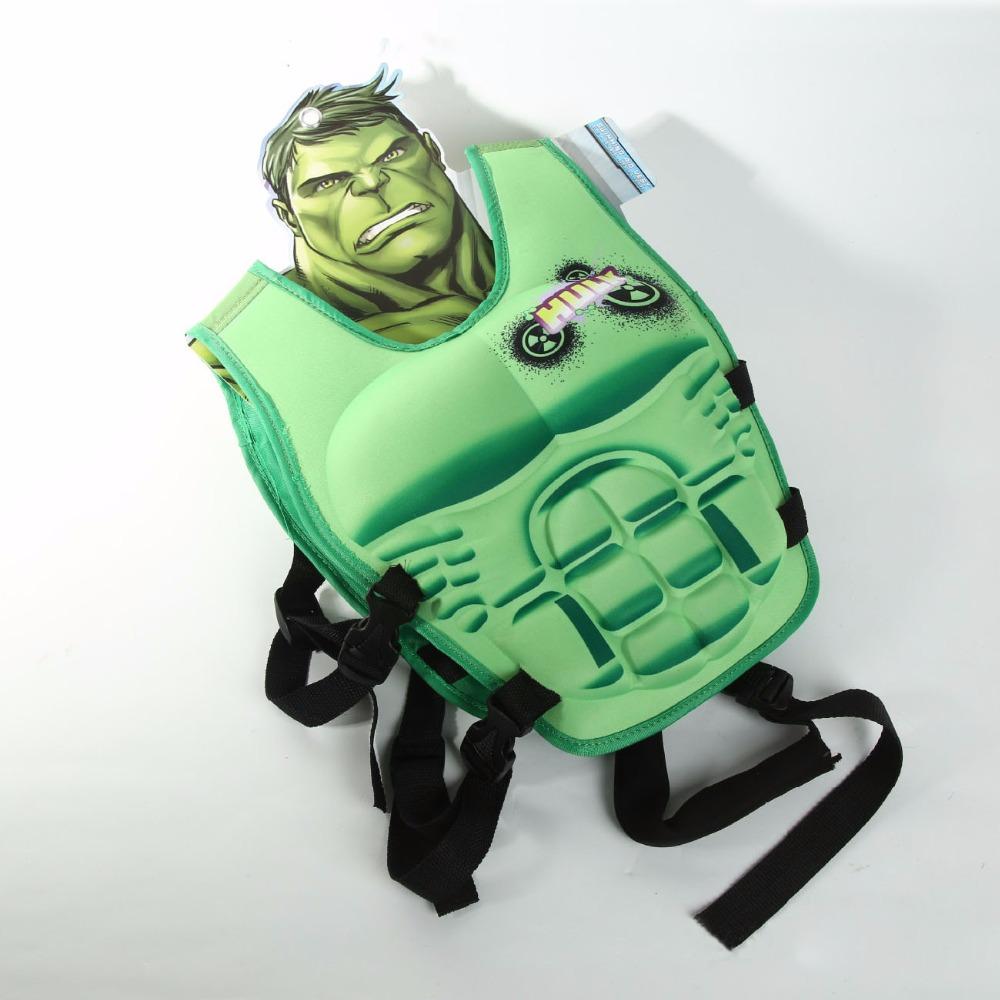kids life jacket vest Hulk Superman batman spiderman swimming child fishing superhero circle pool accessories ring professional(China (Mainland))