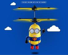 Suspension induction remote control aircraft minion style, rechargeable toys for children wholesale,birthday gift for kids(China (Mainland))