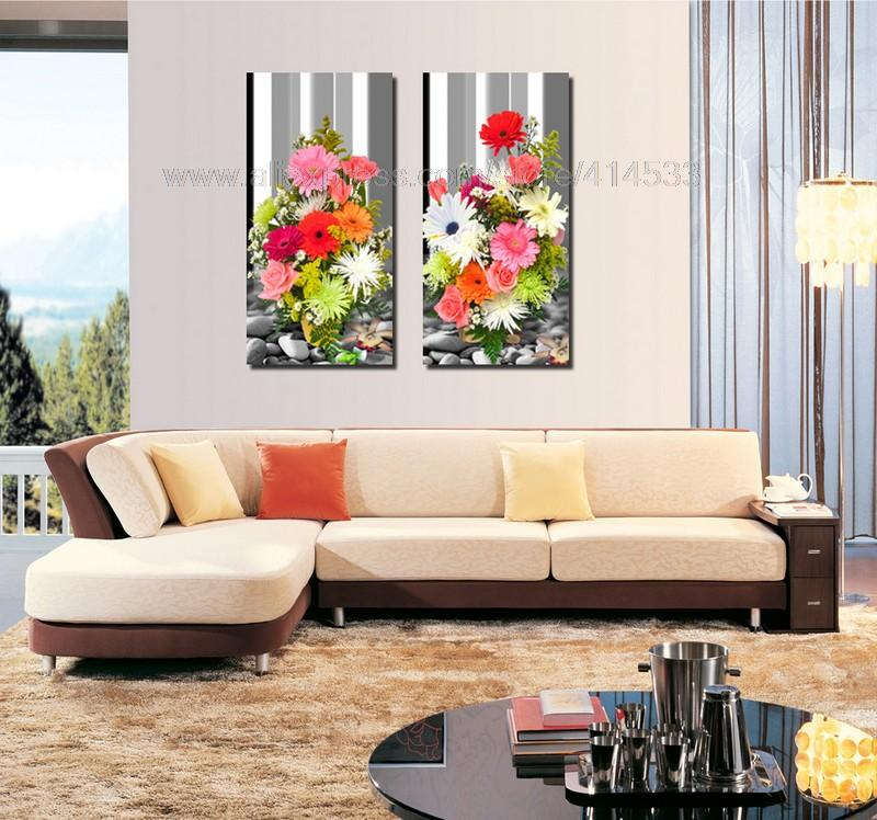 High Quality Beautiful Printed Prints Flower Oil Painting On Canvas Wall Art Picture Decoration
