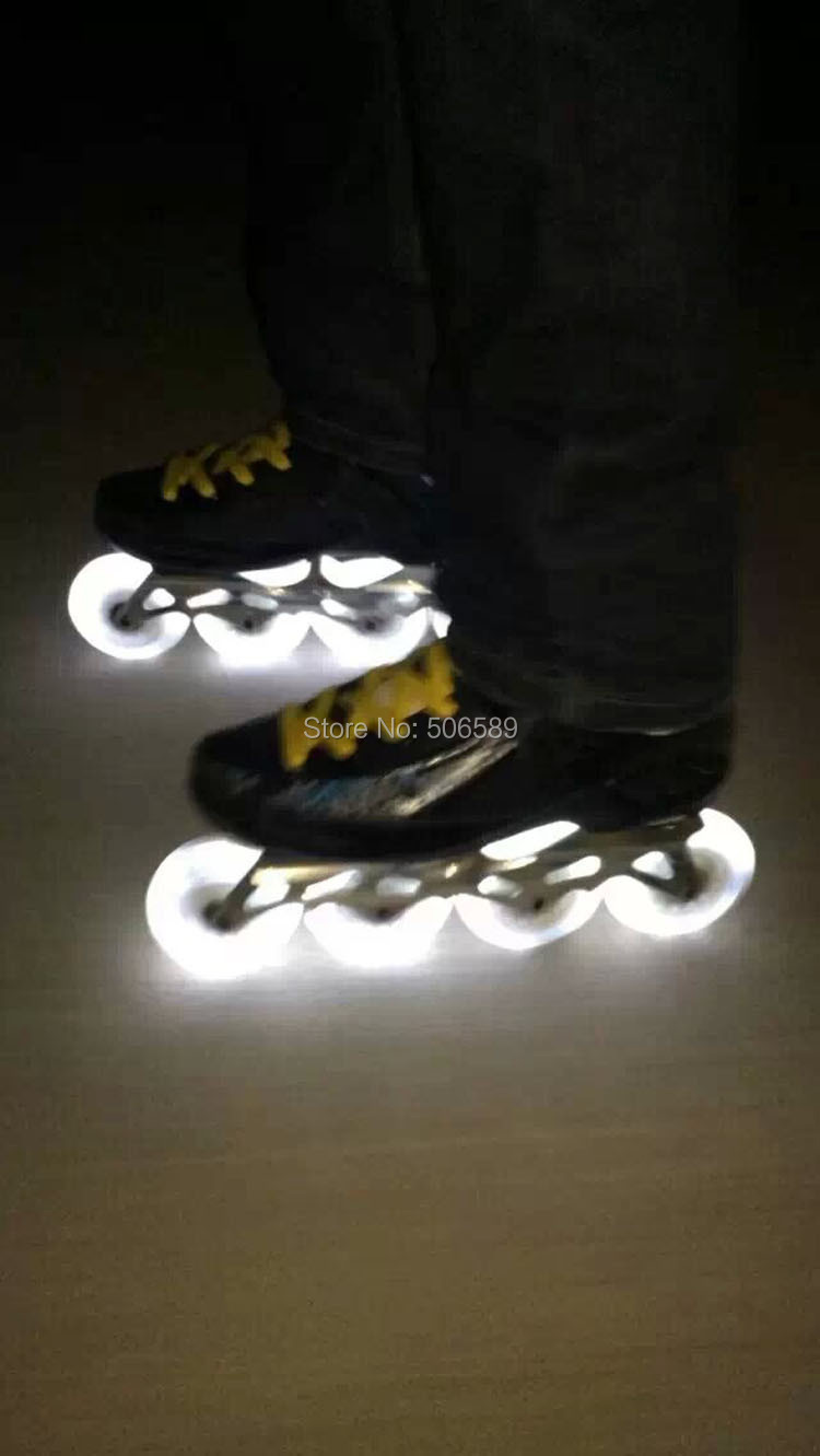free shipping new wheels roller skates wheels cold light 72 mm 76 mm 80 mm(China (Mainland))