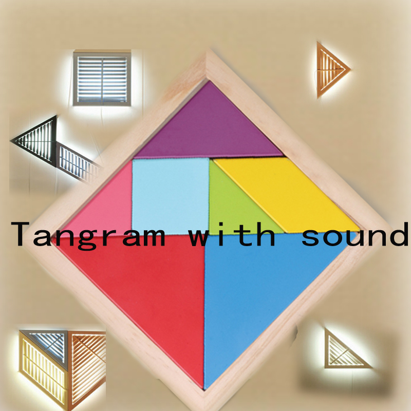 Tangram unlock can modify the sound Reality Room Escape props puzzle Trigger unlock tool<br><br>Aliexpress