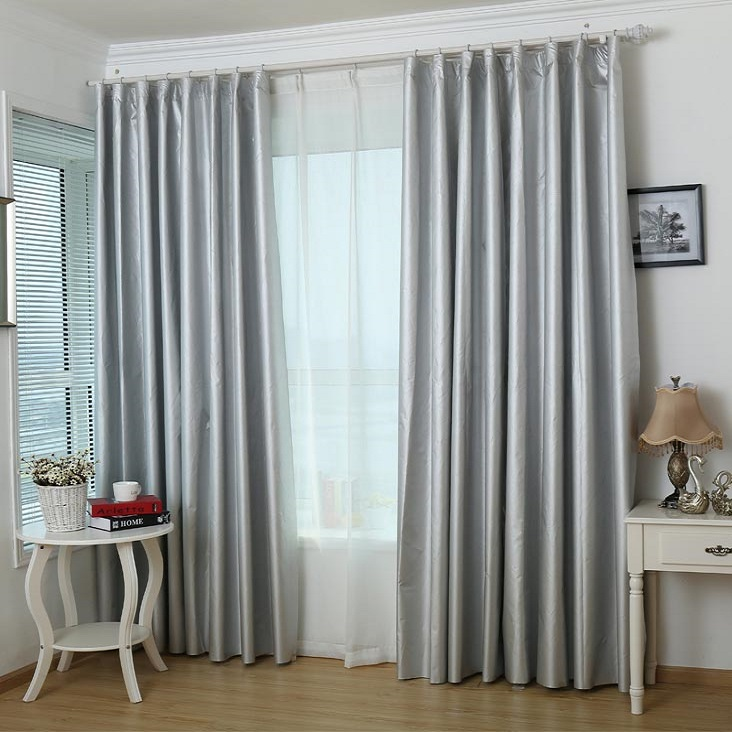Thick floating floor finished shade fabric custom curtains shading the whole living room bedroom balcony sun warm windshield(China (Mainland))