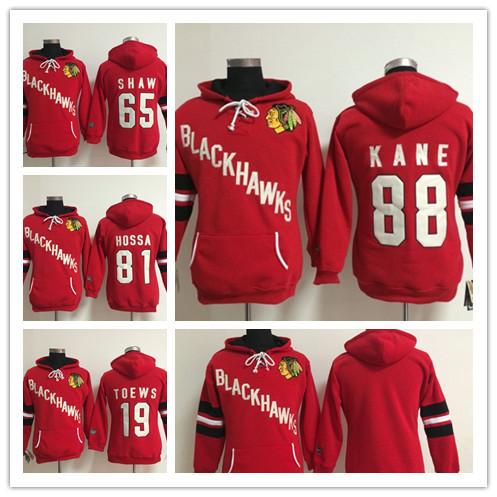Best Womens Chicago Blackhawks Hoodie Jerseys 19 Jonathan Toews,65 Andrew Shaw,81 Marian Hossa,88 Patrick Kane Ice Hockey Hoodie