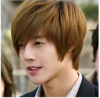handsome korean style man hair fluffy wig hot boys wig new