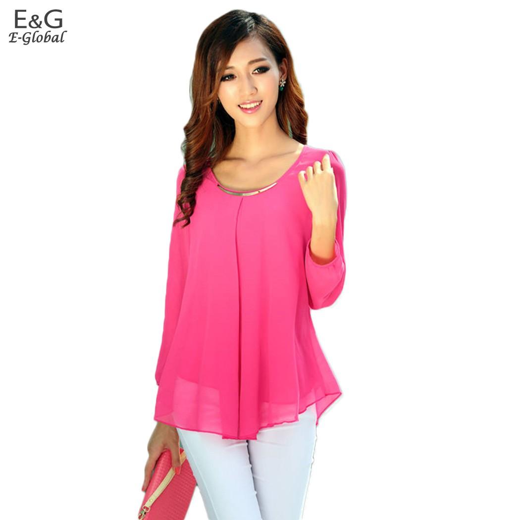 Women chiffon blouses long-sleeve collar Shirts 2015 fashion woman blouses woman clothing 59x(China (Mainland))