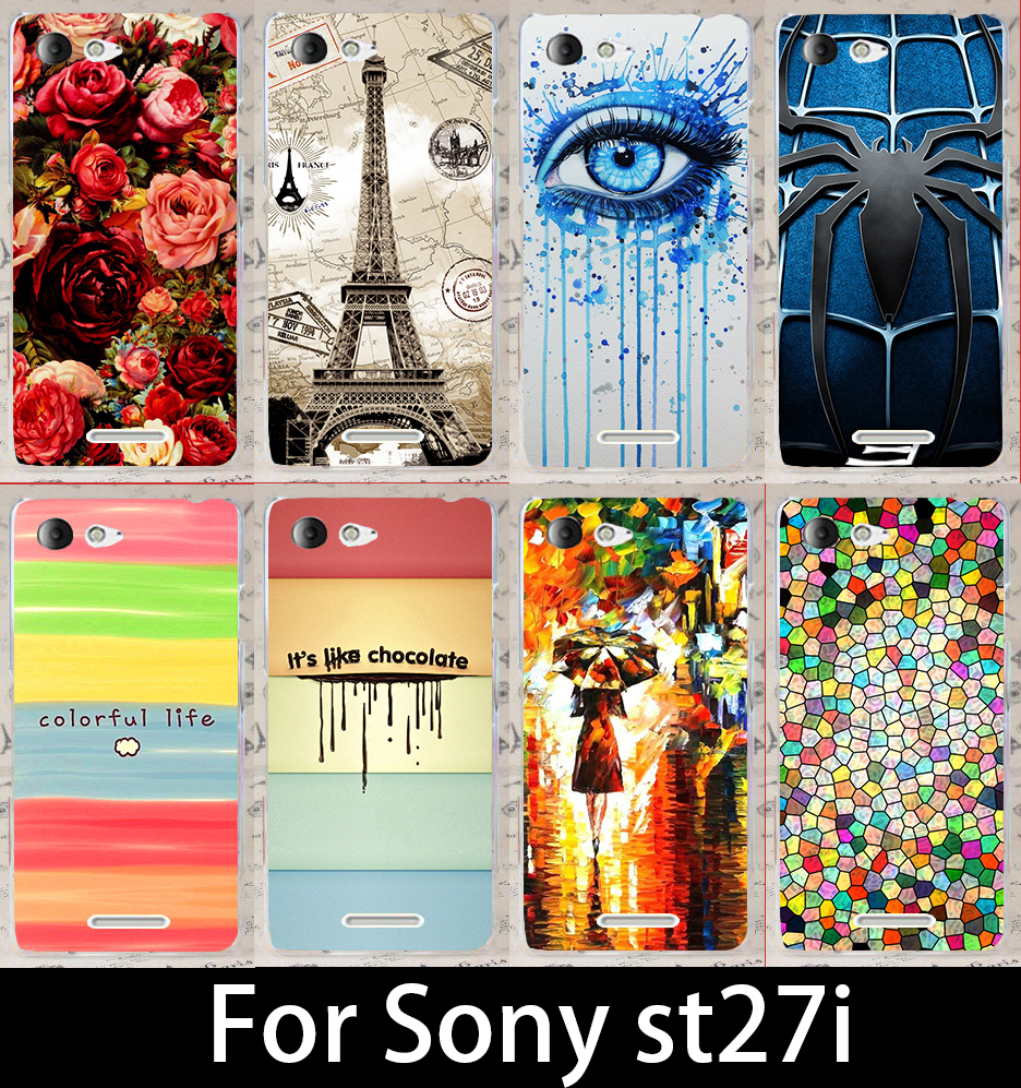 product For Sony Xperia Go st27i st27 Fashion Beautiful Hard Print CellPhone Phone case Cover Skin Bag Hood 22 styles freeshipping