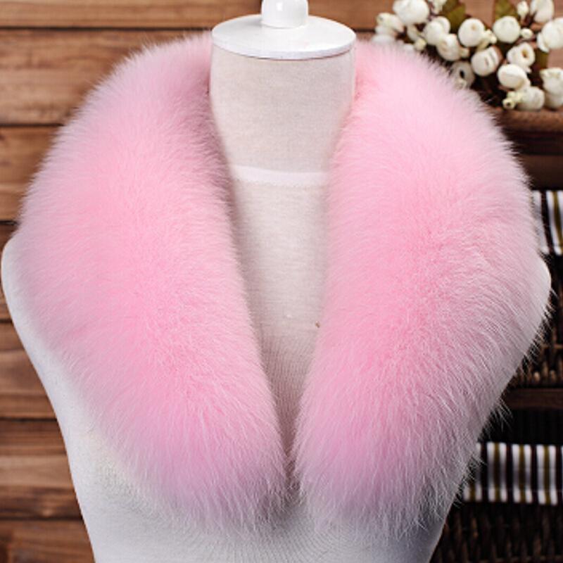 2016 New Women Genuine Fox Fur Collar 75CM Real Fur Scarf Winter Warm Neck Warmers Fur Muffler Scarf 17 colors(China (Mainland))