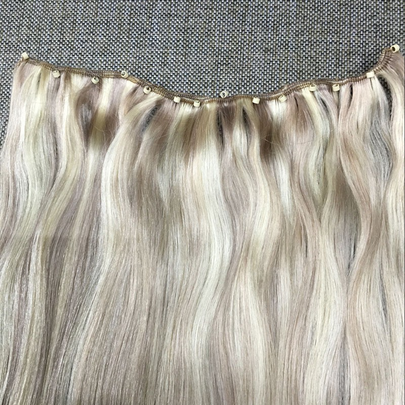Full Shine Micro Bead Weft Hair Extensions 14 inch to 24 inch Cheap Price Micro Ring Sew in Weave Weft Extension Hight Quality