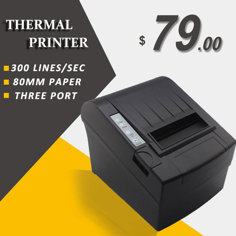 RD-8220 80mm thermal receipt printer 80 pos printer for supermarket store with usb/ethernet/serial interface<br><br>Aliexpress