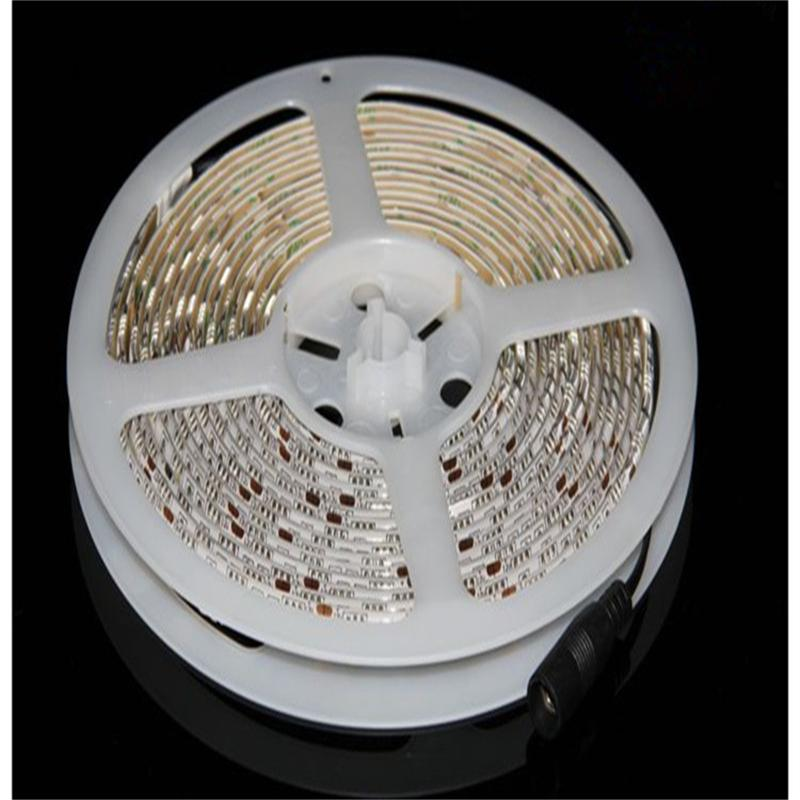 Led Strip 5050 5m 12V Flexible Light 60 leds/M White Warm White Red Blue Yellow Green RGB led 5050 strip for car led strip(China (Mainland))