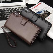 2016 Hot Fashion Brand Men Wallet PU Leather Diamond Lattice Bag Purse Men's Clutch Bags Long Business Multi-functional Handbags