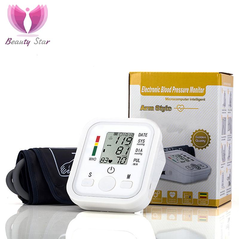Arm Blood Pressure Monitor Pulse Oximeter Digital Tonometer Pressuring Sphygmomanometer Apparatus Measuring Pressure Hearth Care(China (Mainland))