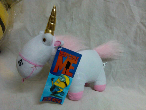 Free shipping Despicable Me Fluffy Unicorn plush toy 23cm doll horse stuffed toy 5pcs/lot(China (Mainland))