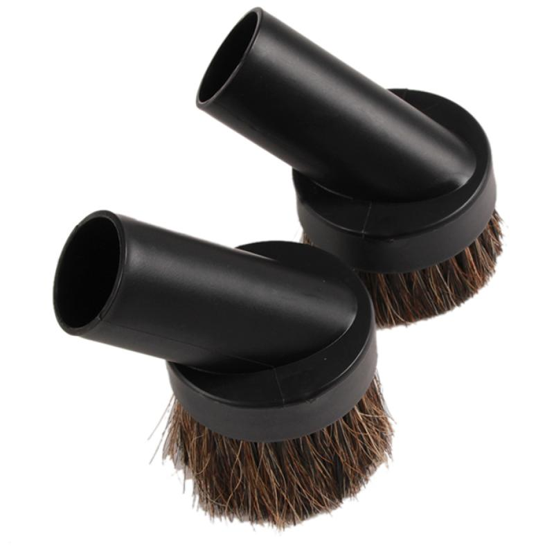 Practical 24mm/ 40mm Home Horse Hair Dusting Brush Dust Clean Tool Attachment Vacuum Cleaner Round Black Color(China (Mainland))