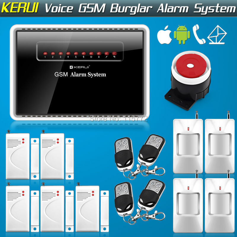 Здесь можно купить  KERUI-G12 Wireless Wired GSM Alarm System Auto-dial Home Voice Burglar Alarm Security System IOS APP Android  Controlled KERUI-G12 Wireless Wired GSM Alarm System Auto-dial Home Voice Burglar Alarm Security System IOS APP Android  Controlled Безопасность и защита