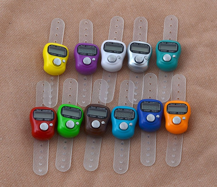 DHL Free Shipping Mini Hand Hold Band Tally Counter LCD Digital Screen Finger Ring Electronic Head Count Tasbeeh Tasbih #HDX36(China (Mainland))