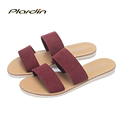 plardin 2016 Summer Women Genuine Leather Sandals Fashion Beach Flip Flops Casual Leather Comfort Shoes Woman