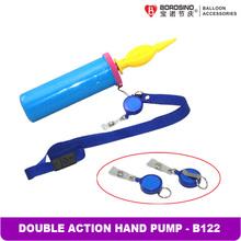 B122 Free shipping Neck String Dual Action Hand Balloon Pump (2 pc/ box)(China (Mainland))