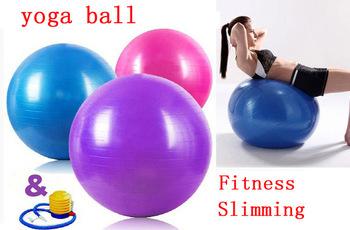 Free Shipping International Standard 65cm Gym Ball Fitness Pilates Aerobics Yoga Ball Slimming Exercise Ball with Free Pump(China (Mainland))