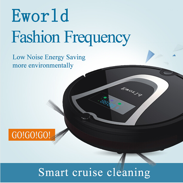 Eworld M884 Smart Wet Robot Vacuum Cleaner Wet and Dry Clean MOP HEPA Filter,Self Charge ROBOT Carpet Sweeper Online Shipping(China (Mainland))