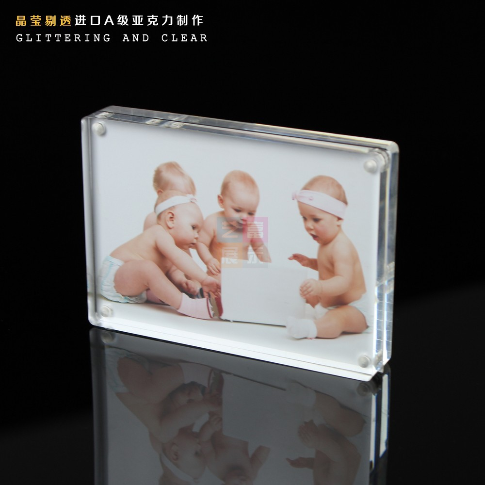Free Shipping 6inch Acrylic Photo Frame Foto Frame Poster Frame 6inch baby photo frame(China (Mainland))