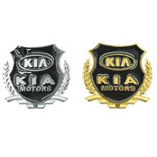Voiture style 3D autocollant de voiture pour KIA K2 K3 K4 K5 Cerato Sportage Sorento Rio Spectra Opirus accessoires Logo en métal signe symbole