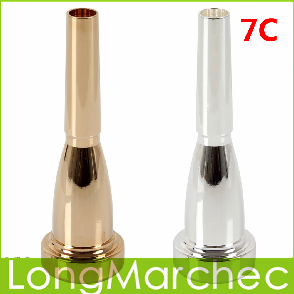7C Size Mega Rich Tone Trumpet Mouthpiece Instrument Professional Accessories Parts - Silver / Gold Color Optional(China (Mainland))