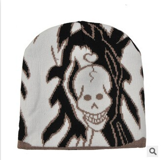 Hip-hop ghost street skateboarding cap male ladies knitted cap The ball jacquard wool cap(China (Mainland))
