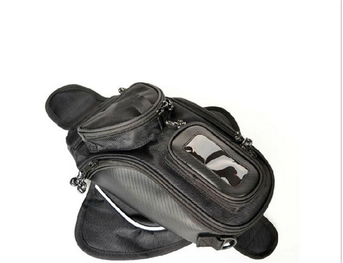 New high quality Black Oil Fuel Tank Bag Motorcycle Magnetic top cases Motorbike Oil FuelTank Bag(China (Mainland))