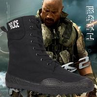 New Fashion Men Army Boots Canvas Casual Men Shoes High Combat Boots Spring Man Outdoor Shoes 60
