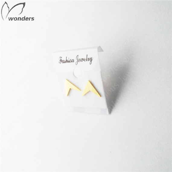Wholesale 30pairs/lot Minimalist Charm Metal Stainless Steel V Shape Stud Earrings For Women Fashion Gold Silver Plated Jewelry<br><br>Aliexpress