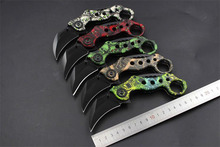 Outdoor Karambit knife Hunting Knives Camping Tool Survival Tactical Knife Stainless steel scorpion claw knife 5 Colors(China (Mainland))