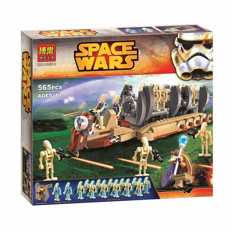 BELA 10374 565Pcs Star Wars Battle Droid Troop Carrier Spaceship Building Blocks Compatible With Star Wars Toys Brinquedos(China (Mainland))